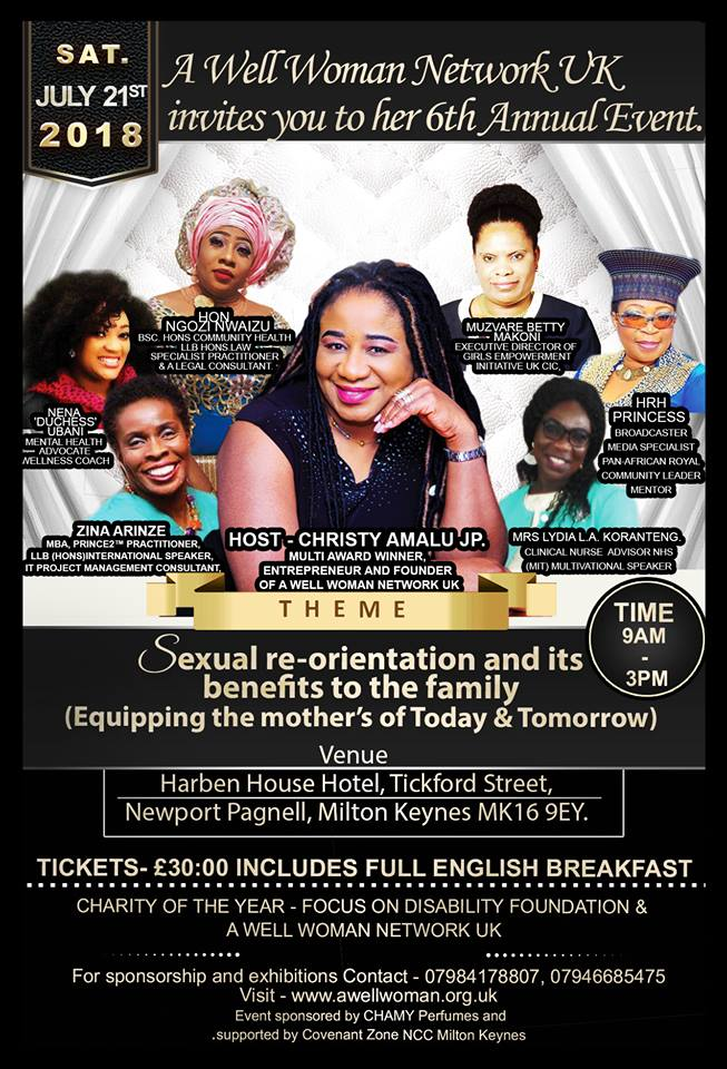 Poster A Well Woman Conference 2018.